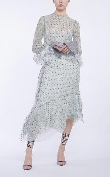 Anaïs Jourden Duo Lace Midi Dress Size: 30 in green