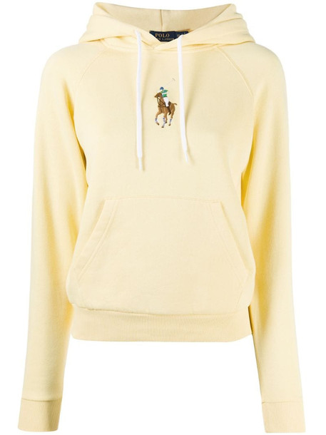 Polo Ralph Lauren embroidered logo hoodie in yellow