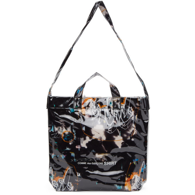 Comme des Garcons Shirt Black Small Futura Edition Tote in print