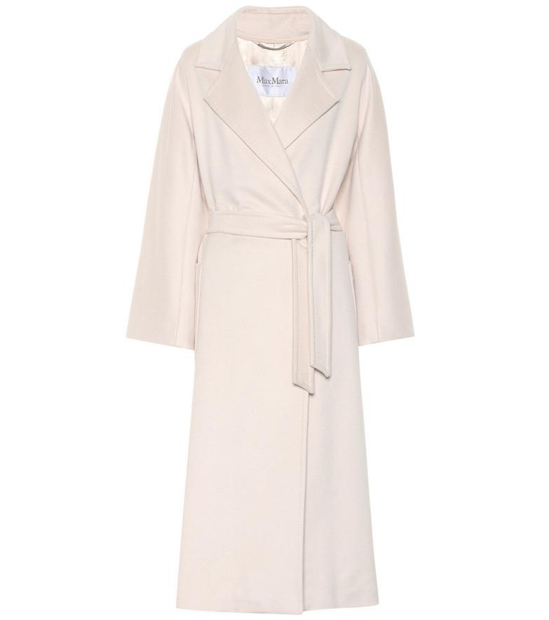 Max Mara Cadine wool and alpaca coat in white