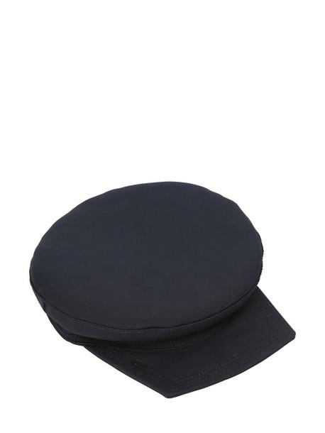 SPORTMAX Cotton Canvas Hat in navy