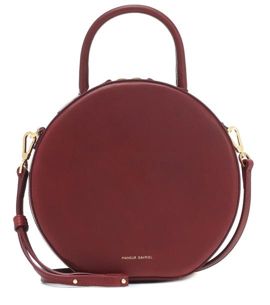 Mansur Gavriel Circle leather crossbody bag in red