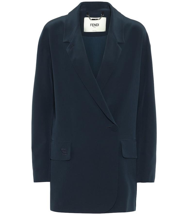 Fendi Silk blazer in blue
