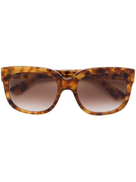 Gucci Eyewear havana square sunglasses in brown