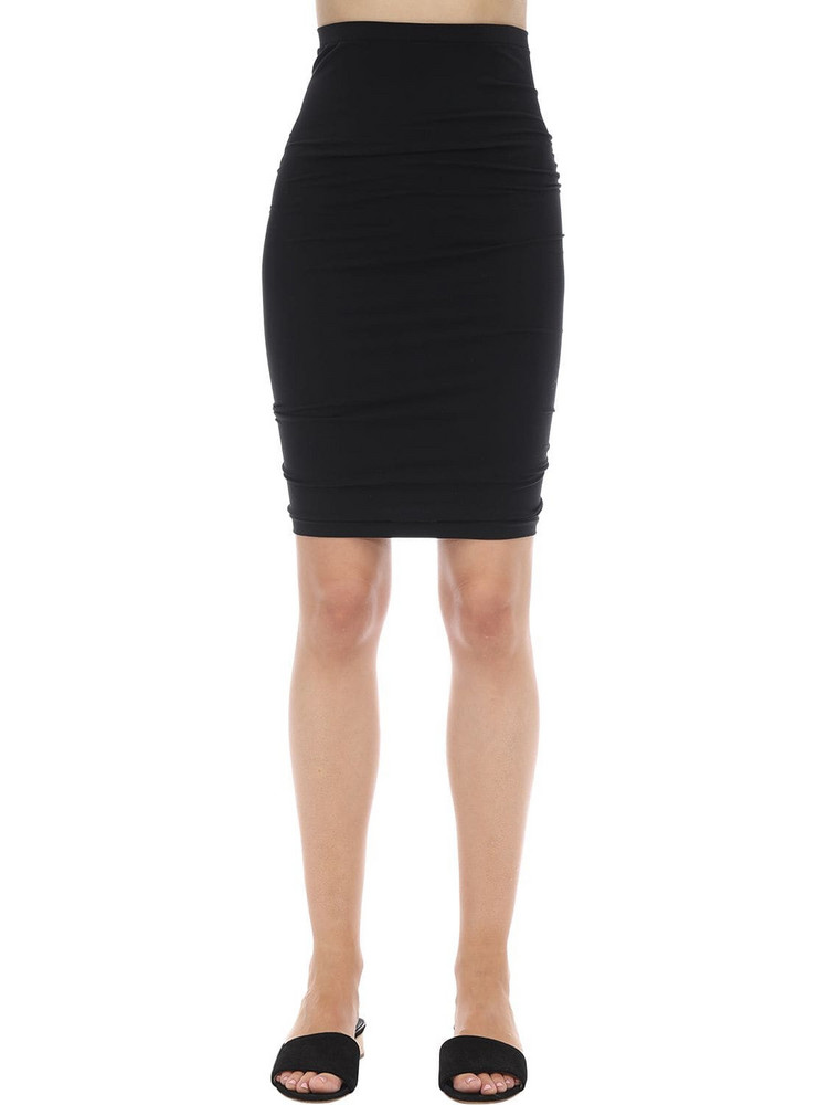 WOLFORD Fatal Fitted Microfiber Skirt in black