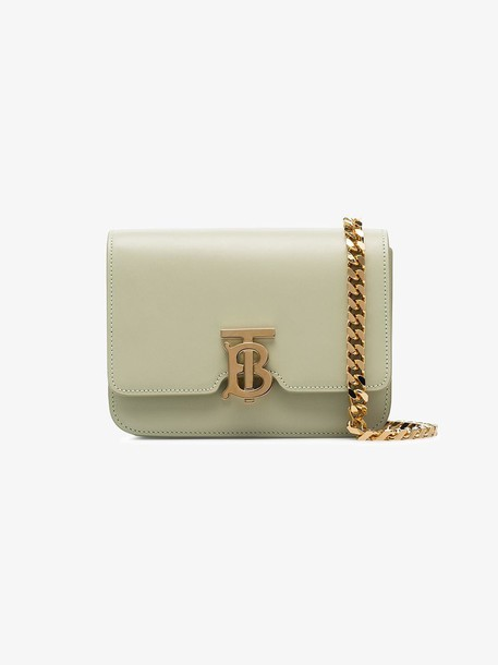 Burberry Leather Belted TB Bag in neutrals