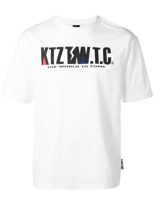 KTZ mountain letter T-shirt in white