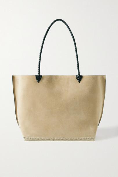 Altuzarra - Espadrille Large Leather And Jute-trimmed Suede Tote - Beige