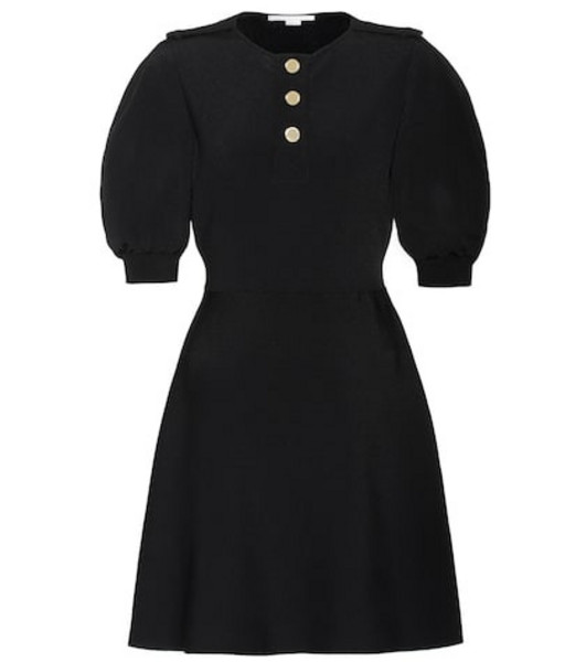 Stella McCartney Ribbed-knit minidress in black