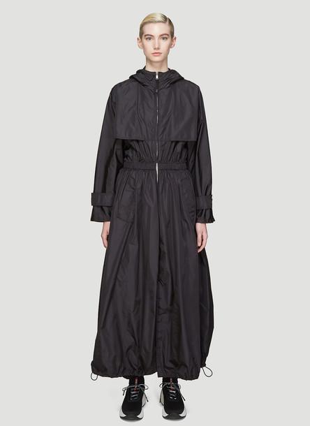 Prada Hooded Nylon Parachute Coat in Black size IT - 40