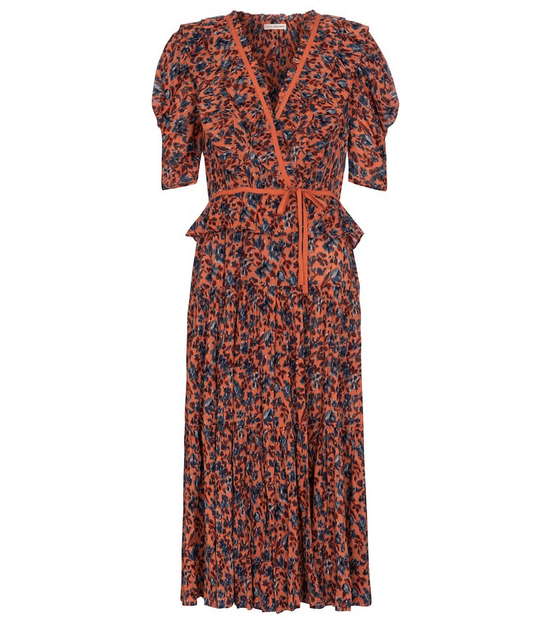 Ulla Johnson Lissette floral midi dress in orange