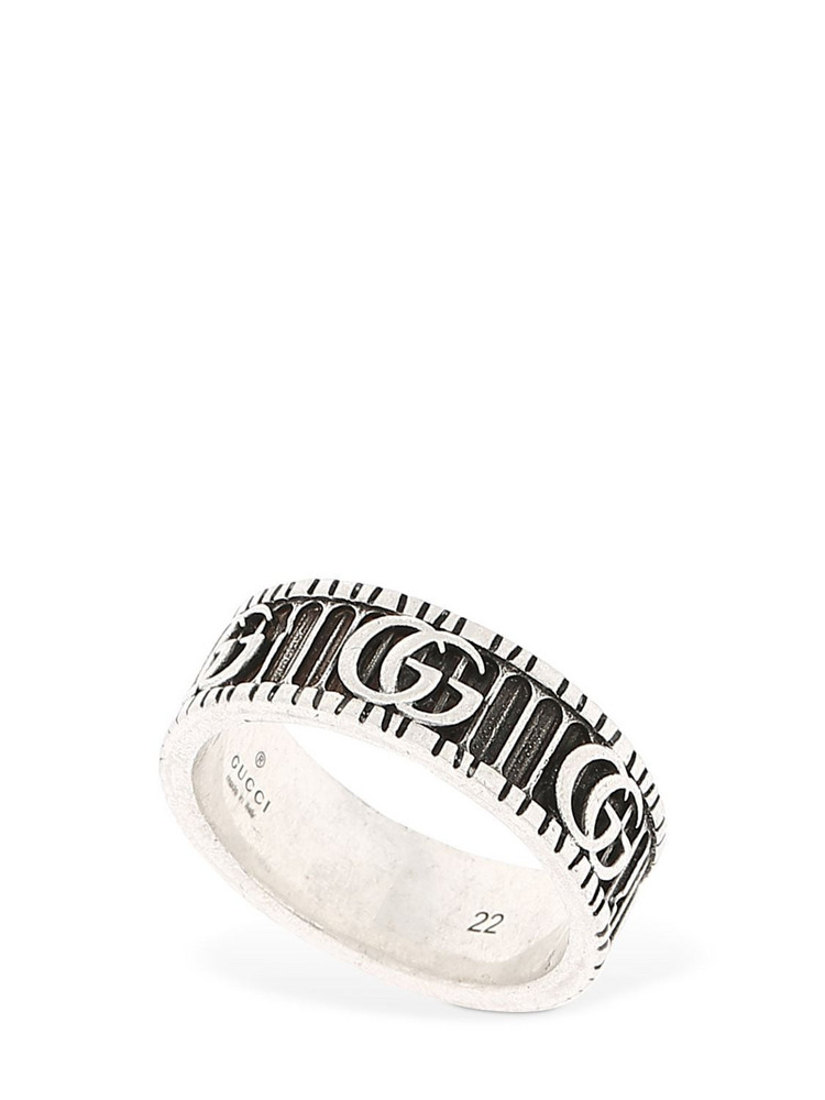 GUCCI 8mm Gg Marmont Ring in silver