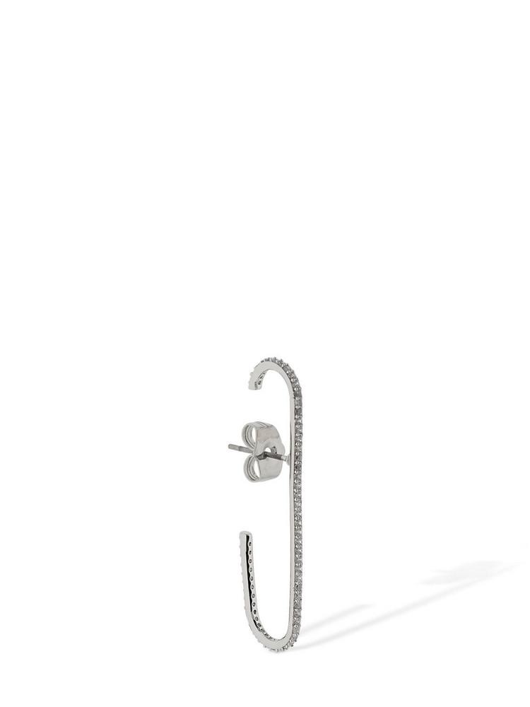 FEDERICA TOSI Kelly Pin Crystal Mono Earring in silver
