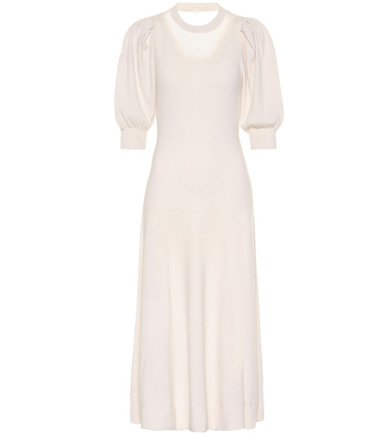 Jonathan Simkhai Cashmere midi dress in white