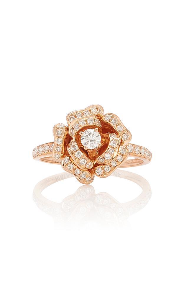 Anita Ko 18K Rose Gold And Diamond Ring Size: 5.5 in pink
