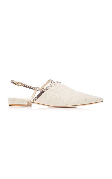 Cult Gaia Thalia Mules in white