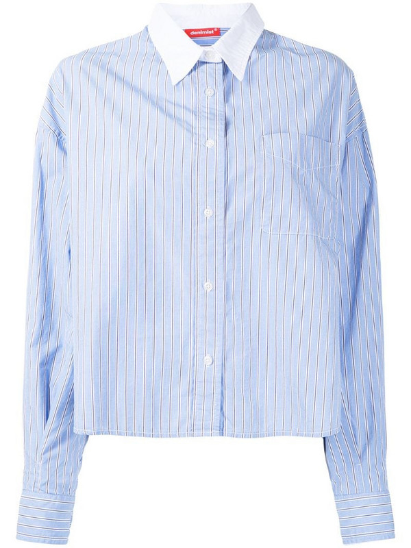 Denimist stripe print shirt in blue