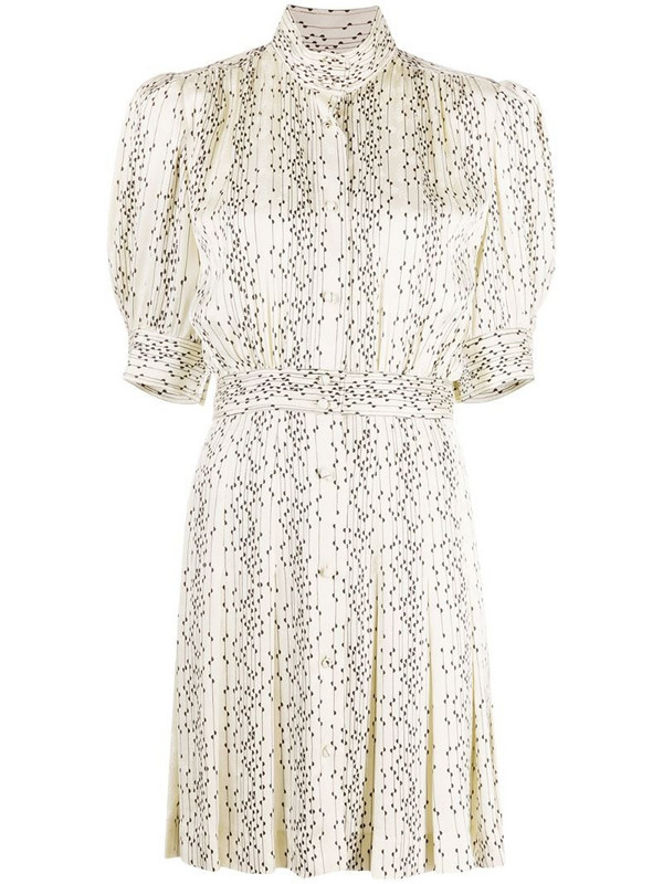 Sandro Paris paneled shirt dress in white