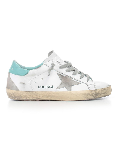 Golden Goose Sneakers Superstar in mint / cream / white