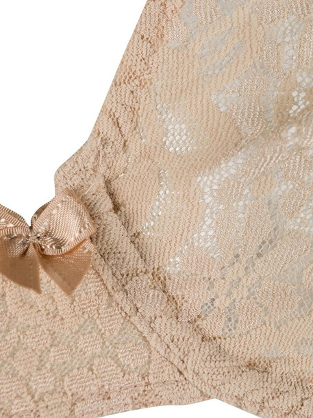 Wacoal halo lace moulded underwire bra in neutrals
