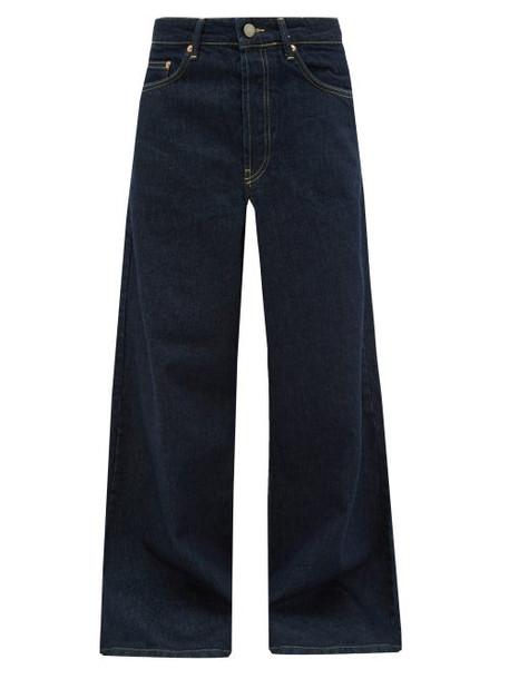 Raey - Stride Wide Leg Jeans - Womens - Indigo