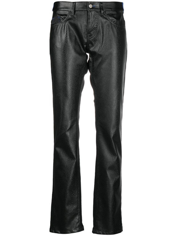Koché panelled straight-leg trousers in black
