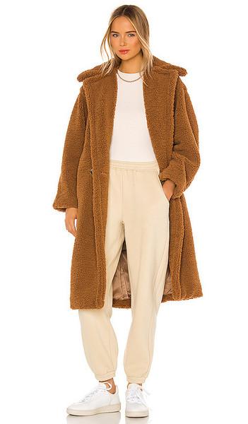 Apparis Daryna Faux Fur Coat in Brown in camel