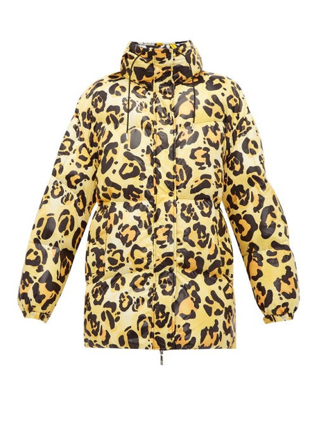 Moncler G Richard Q - Mary Leopard Print Lacquered Coat - Womens - Leopard