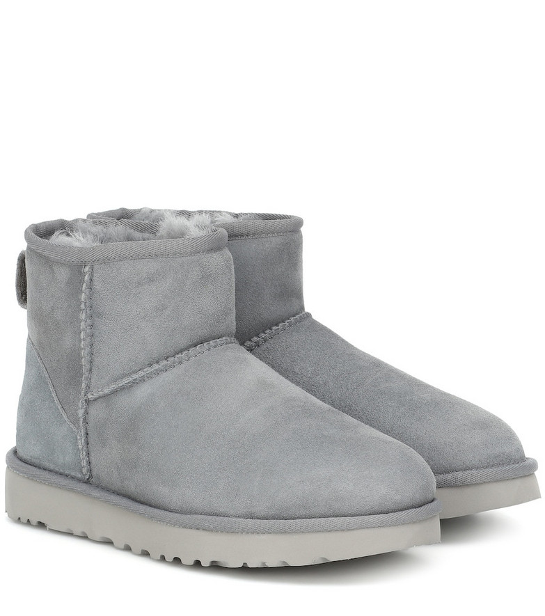 Ugg Classic Mini II suede ankle boots in grey