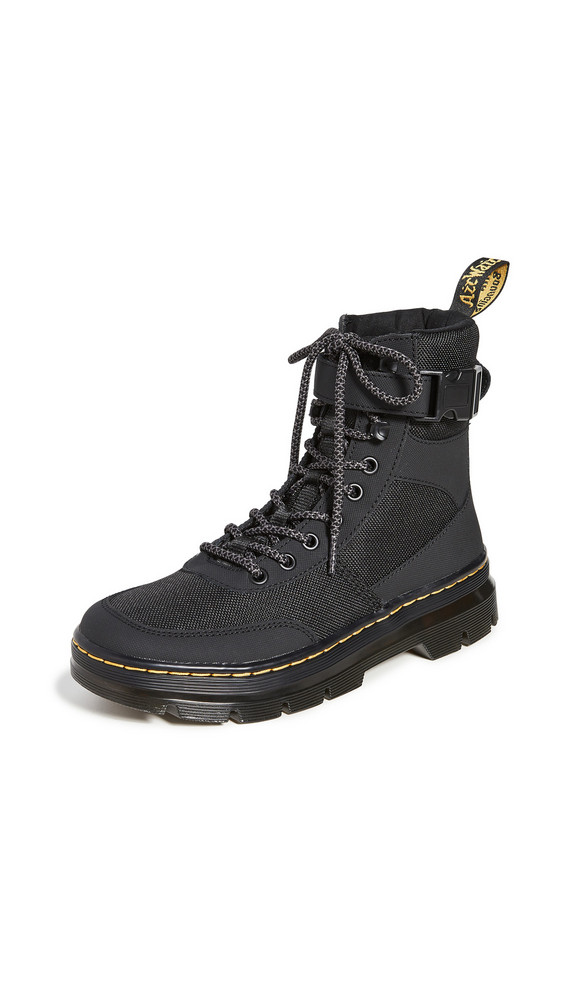 Dr. Martens Combs Tech 8 Tie Boots in black