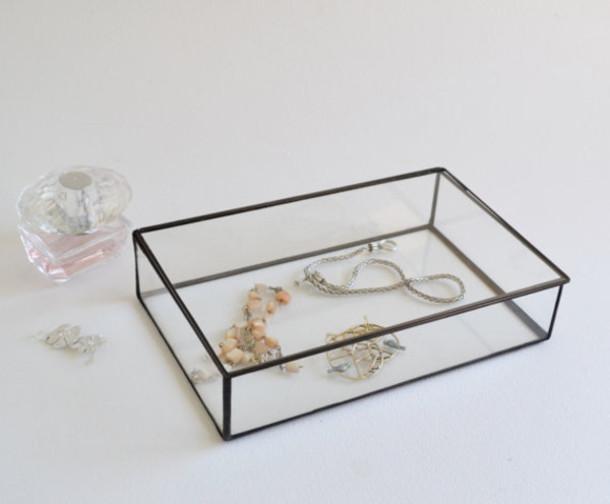 home accessory glass jewelry box jewelry box glass box make up box