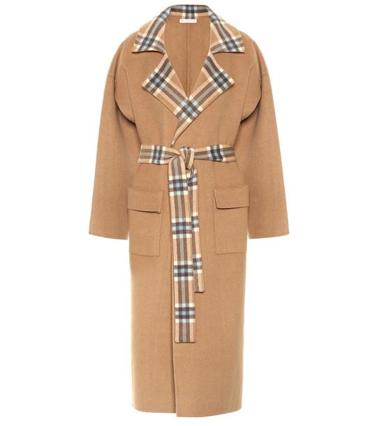 Rejina Pyo Meryl checked wool-blend coat in brown