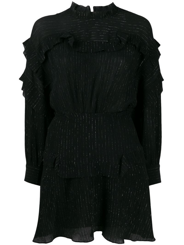 Isabel Marant Maeva ruffled mini dress in black