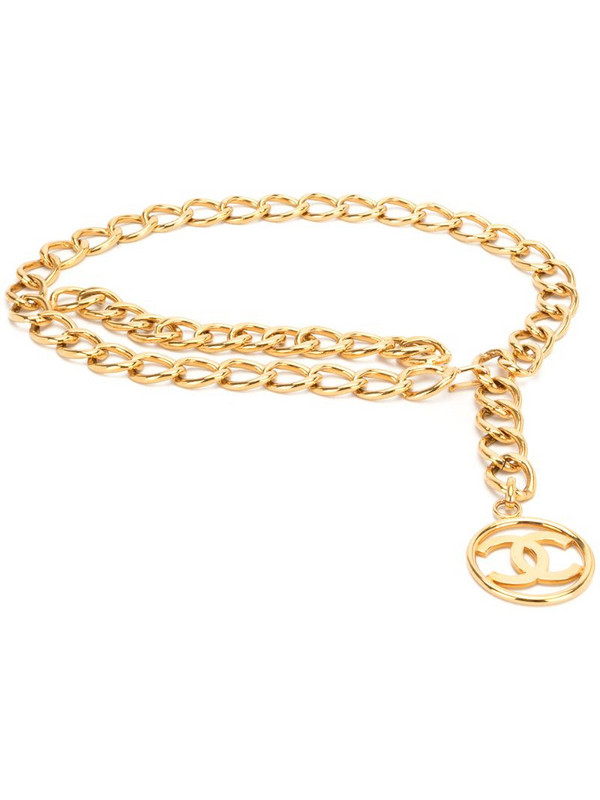 Chanel Pre-Owned 1993 CC Medallion chain belt in gold