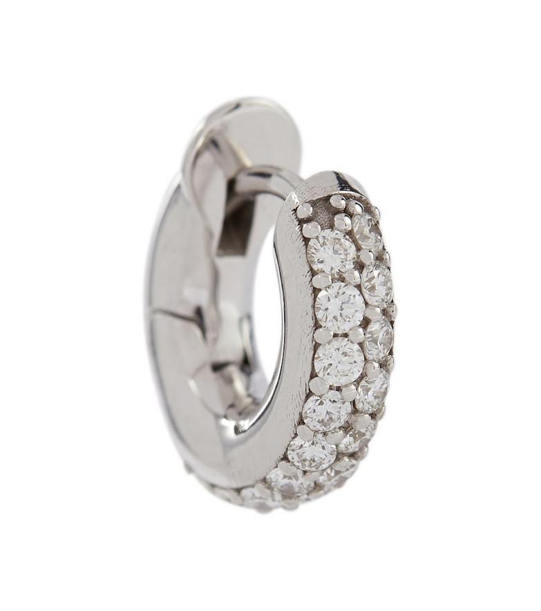 Spinelli Kilcollin Mini Macro Hoop 18kt white gold single earring with diamonds