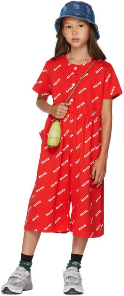 Jellymallow Kids Red & White 'Adieu' Jumpsuit
