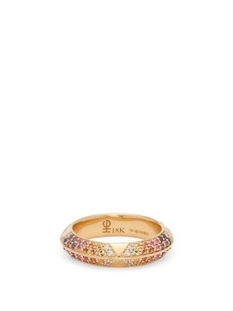 Harwell Godfrey - Rosa Diamond, Sapphire & 18kt Gold Ring - Womens - Multi