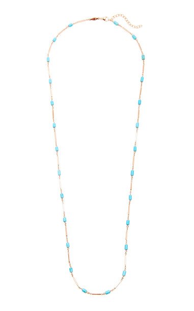 Jacquie Aiche 14K Rose Gold Turquoise And Bar Necklace