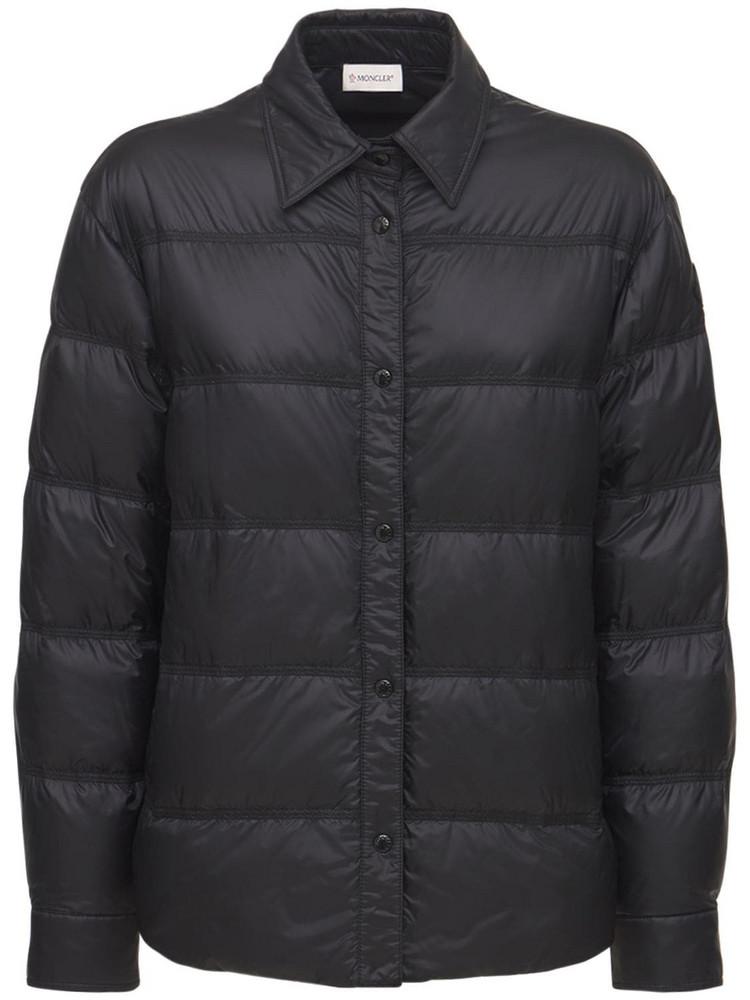 MONCLER Nylon Shirt Down Jacket in black