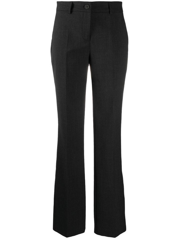 Semicouture flared tailored trousers in grey