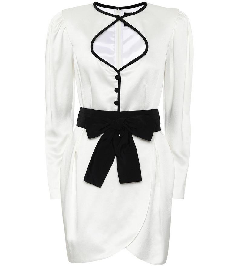 Dundas Satin minidress in white