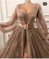 dress,gold,belt,long,lace,prom dress