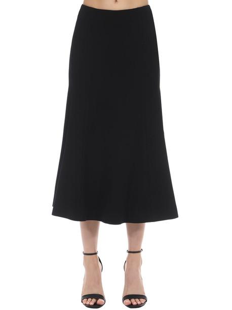 OLIVIER THEYSKENS Long Slim Fit Wool Skirt in black
