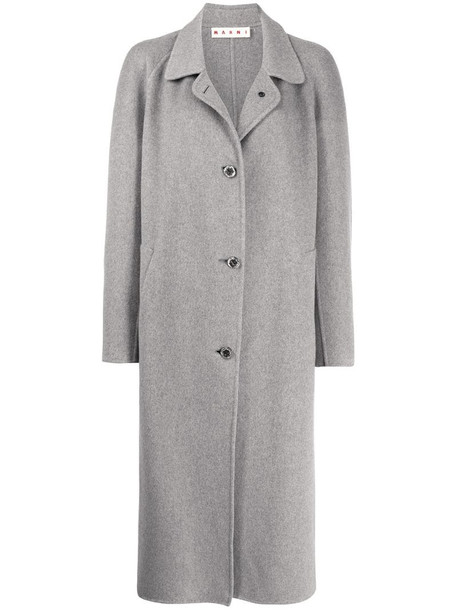 Marni button-front coat in grey