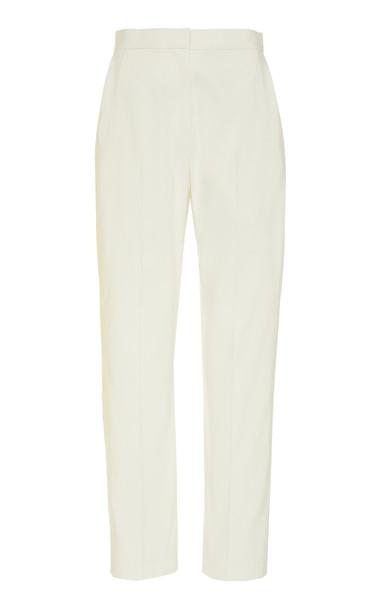 Maison Rabih Kayrouz Faille Skinny Pants in white