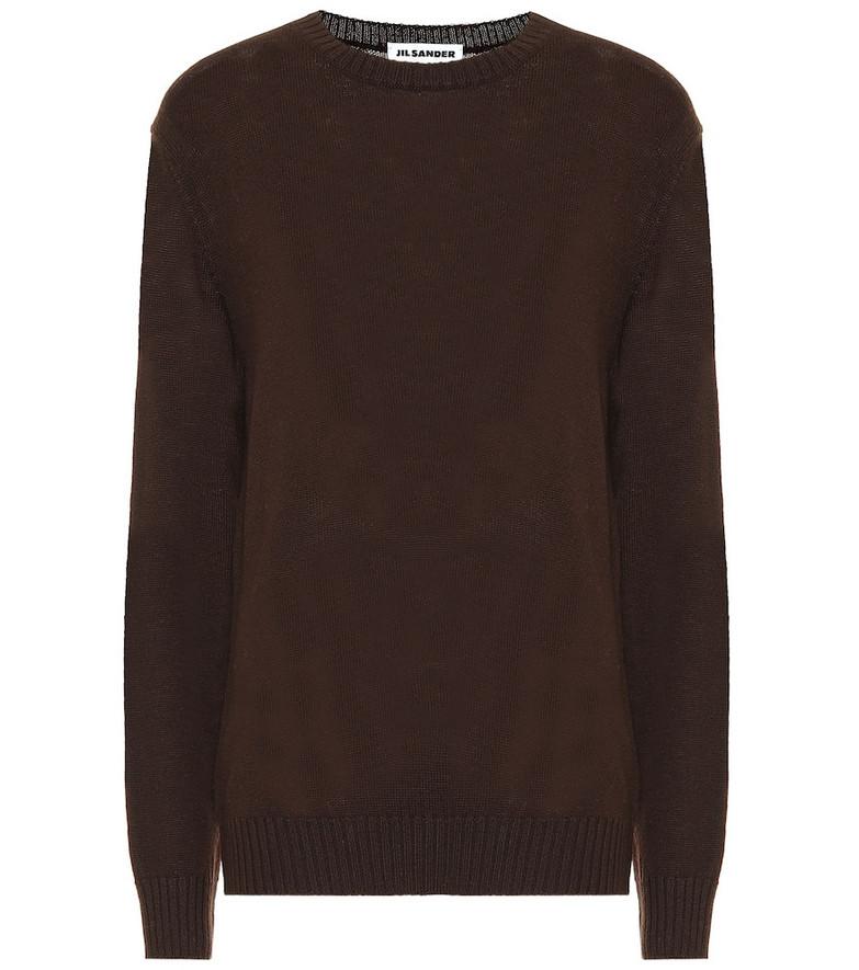 Jil Sander Wool sweater in brown