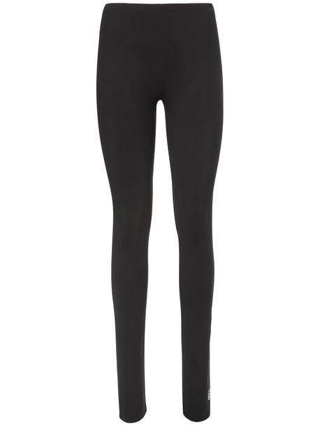 MM6 MAISON MARGIELA Logo Lycra Leggings in black