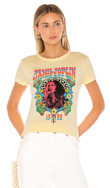 DAYDREAMER Janis Joplin 1969 Slim Tee in Yellow