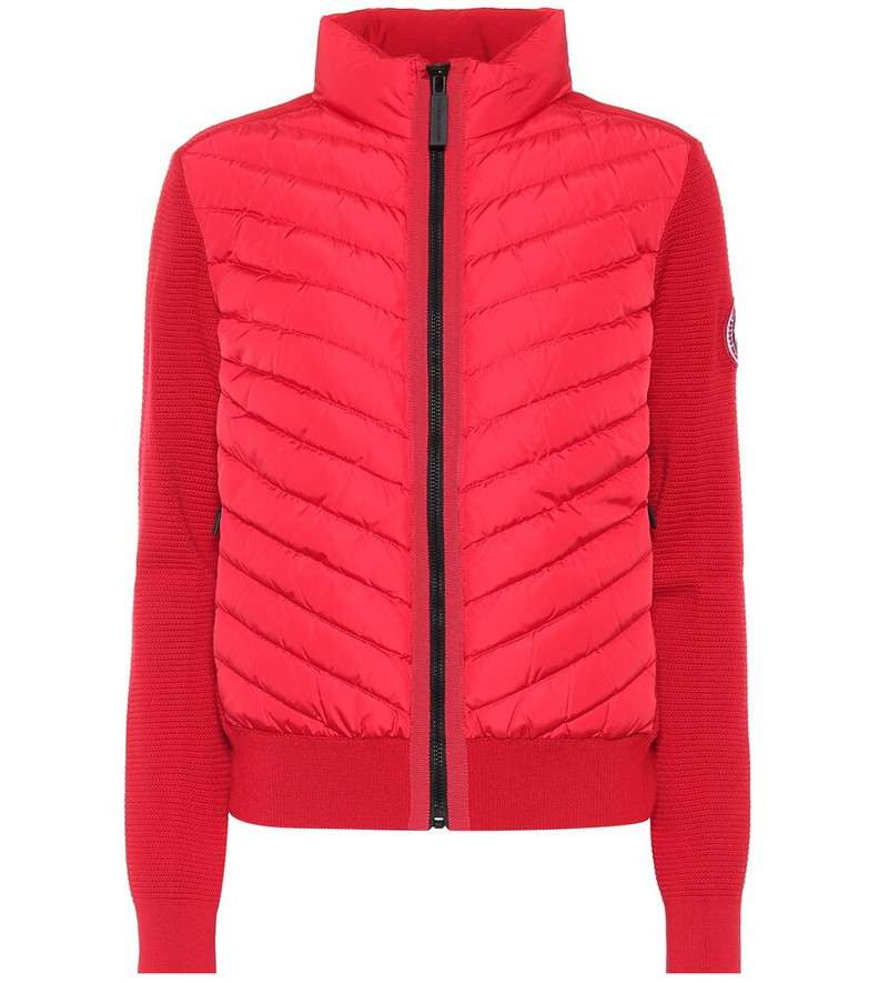 Canada Goose HyBridge® down and wool jacket in red