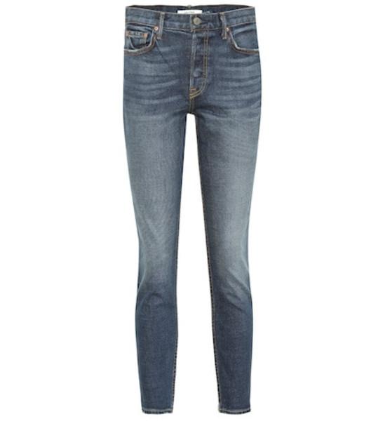 Grlfrnd Yasmin mid-rise skinny jeans in blue